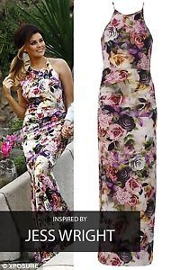 CELEBRITY-BLUMEN-BUNT-SOMMER-PARTY-MAXIKLEID-DAMEN-XS-S-M-L-XL-34-36-38-40-42