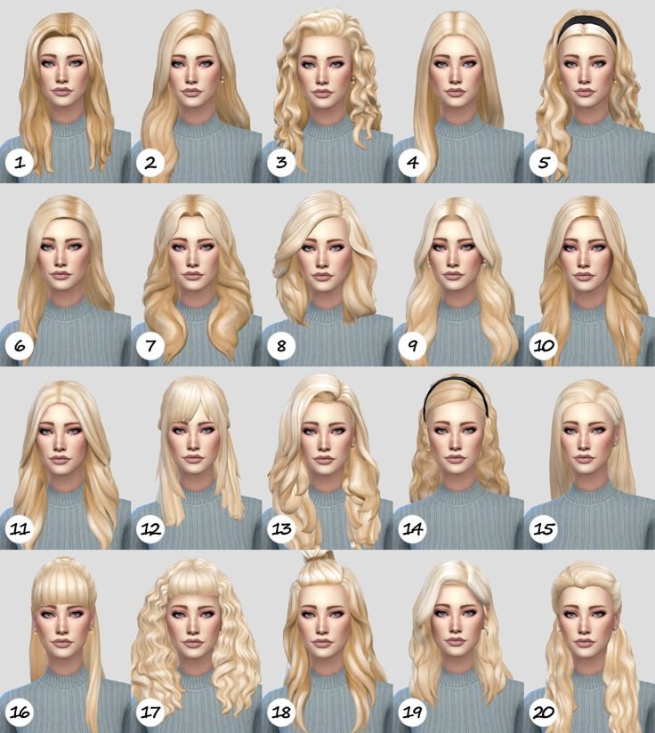 Pure hair recolor dump ft. Charlotte Roux (NBHT) random feminine lengthyhairs by…