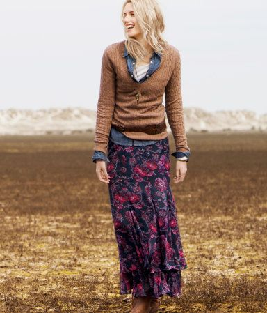 Fall. :-): Sarongs, Cute Fall Outfits, Long Floral Skirts, Fall Maxi, Fall Wins, Dresses, Long Skirts, Skirts 34 95, Floral Maxi Skirts