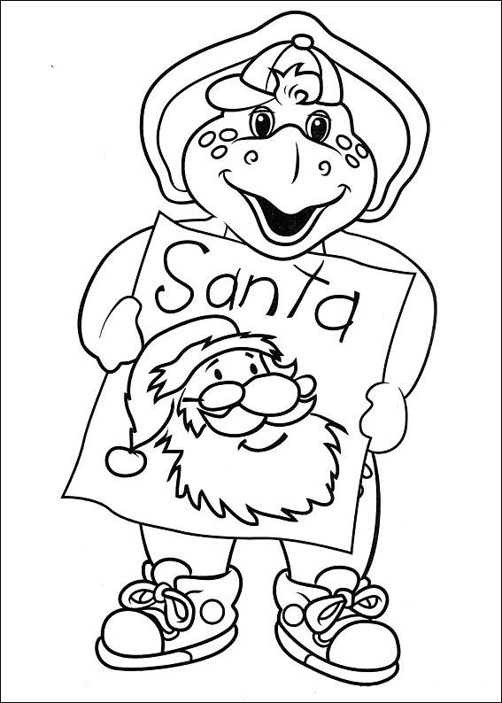 barney and friends coloring pages 22 coloring pageschildrencartoon - Friendship Coloring Pages For Preschool