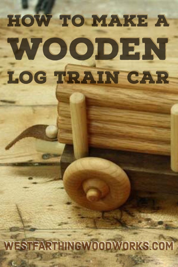This is a great gift, and you can make the entire wooden train or just a few of the cars. This is an easy woodworking project, and it results in a really nice looking wooden log car. Happy building.