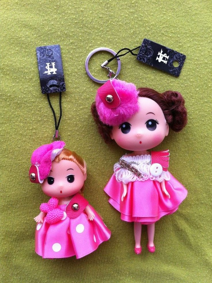 2 Delightful Costume Keyring and mobile phone dolls . 5  and 3  tall. BNWTO.