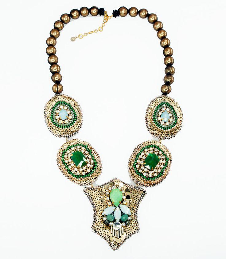 Elizabeth Wahyu Accessories        Made with zirconia, crystal beads, pearl   #necklace #jewellery #accessories  #beaded #beads #handmade #bauble #stone #zirconia  www.elizabethwahyuaccesories.com