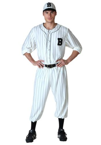 You don't have to be Babe Ruth or Joe DiMaggio to wear this Adult Vintage Baseball Costume! Heck, we won't even tell anyone if you struck out in little league - with an outfit like this, no one will be the wiser.