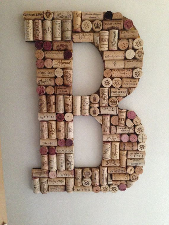 Unique Letters and Symbols made of Wine Corks...