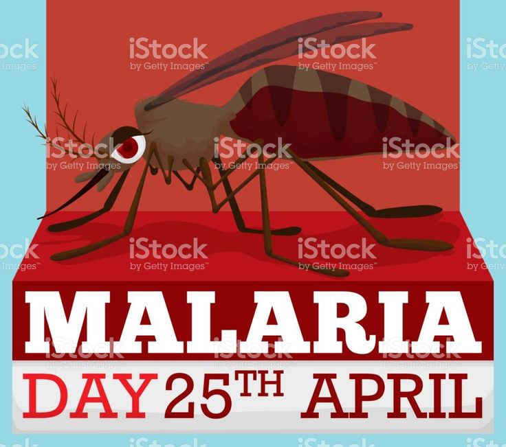Cartoon Design with Mosquito for World Malaria Day in April