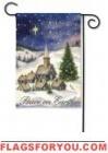 Peace on Earth Christmas Village Garden Flag - 2 left