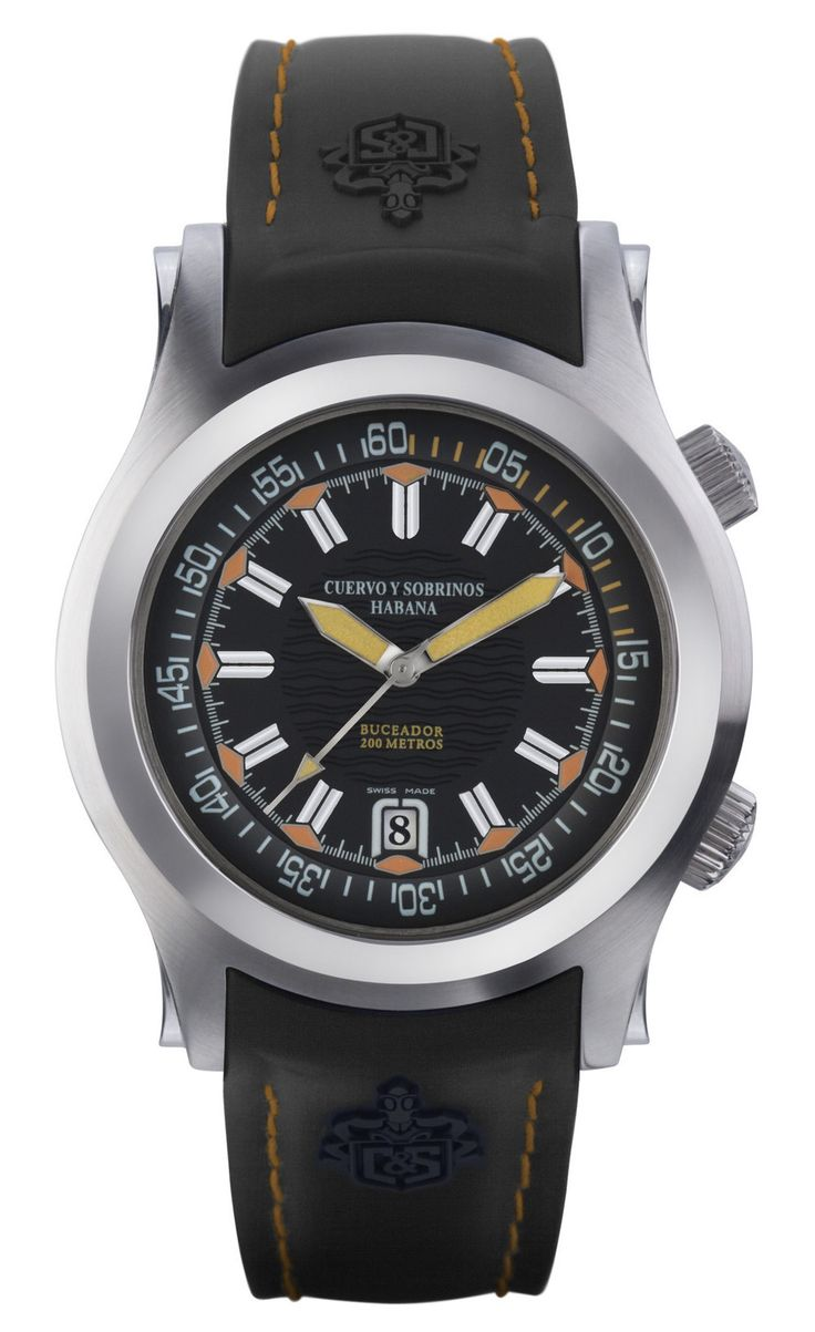 Cuervo y Sobrinos 2806.1NA Men's Diving Watch Robusto Buceador Swiss Made Automatic