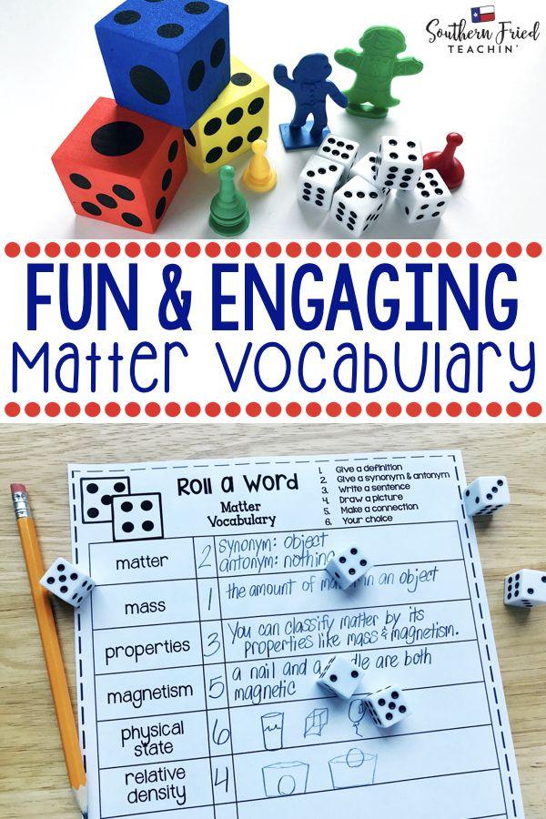 Matter Fun Interactive Vocabulary Dice Activity Editable Southern