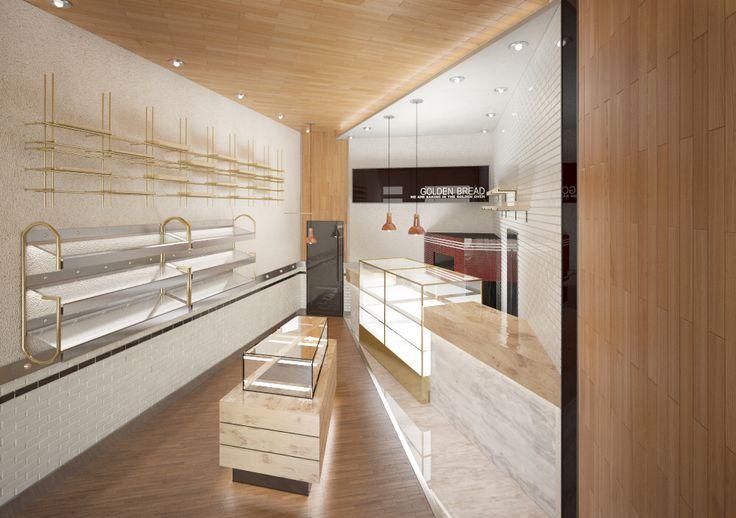 "Shop interior Ulsan ""Golden bread""."