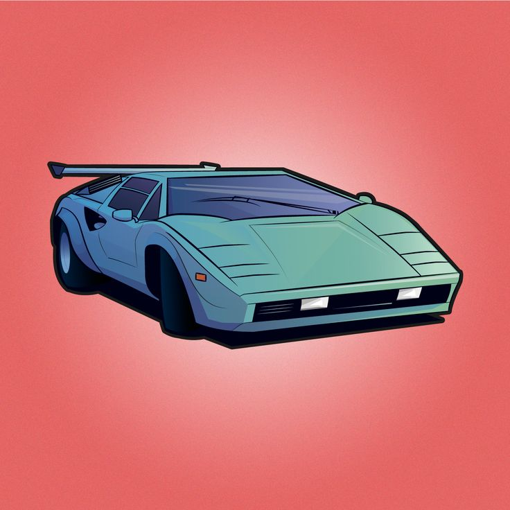 lamborghini countach sticker idea graphic design miami exotic cars vice city retro stickerapp. Black Bedroom Furniture Sets. Home Design Ideas