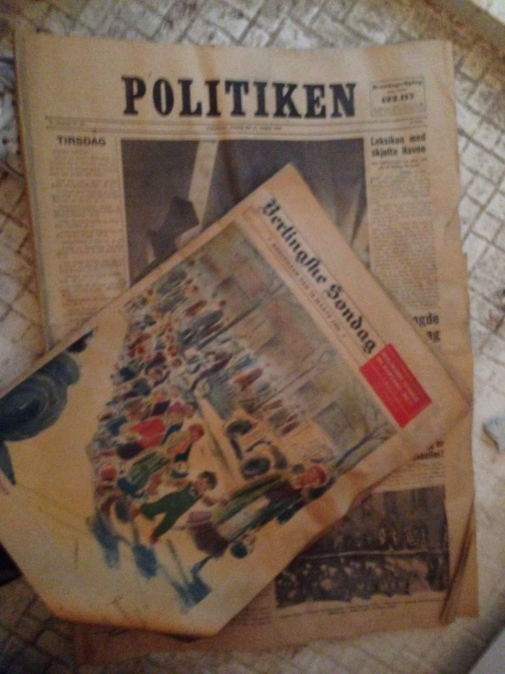 Look what my dad found underneath the floor! Danish #politiken and #berlingske papers from 1934!
