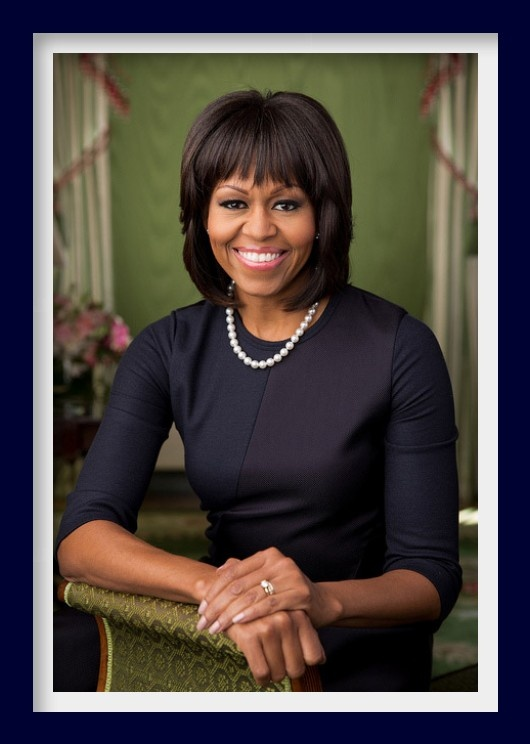 Michelle Obama official portrait released