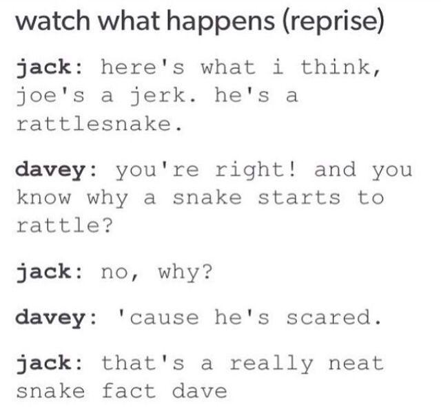 You're so smart Davey