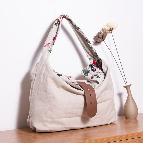Women Printing Floral Casual Shoulder Bag