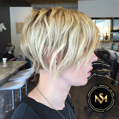 Wavy+Blonde+Hairstyle+For+Short+Hair