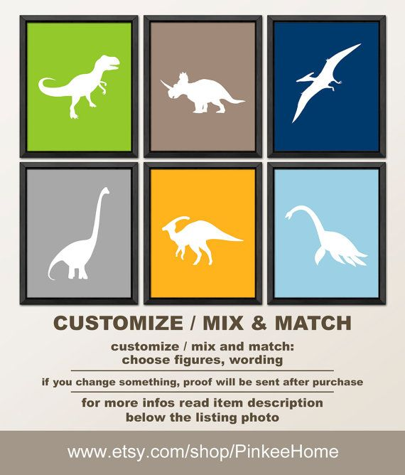 38 best Dinosaur nursery wall art, dino baby room decor images on ...