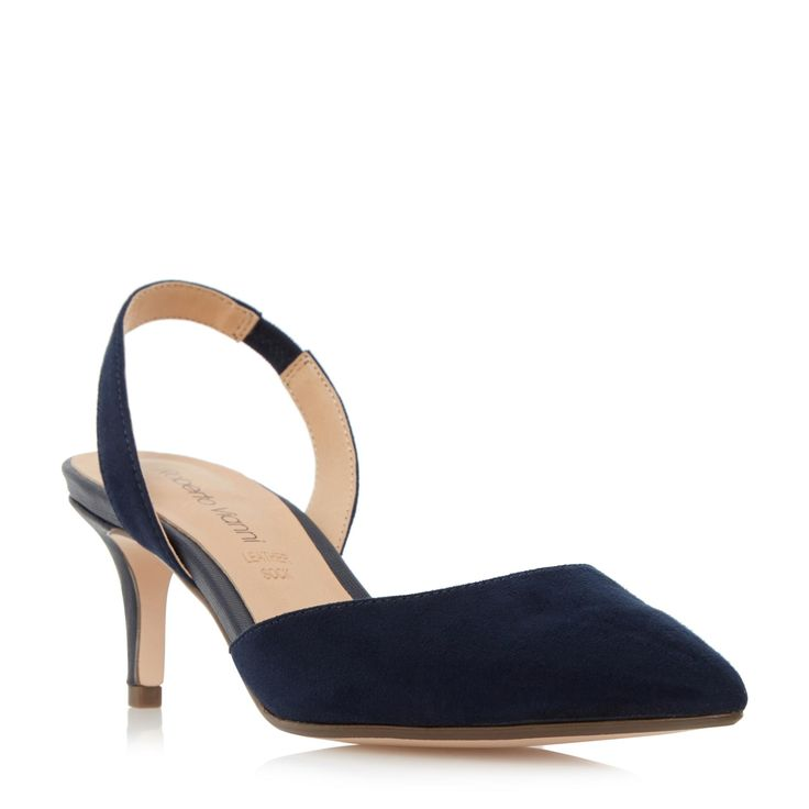 ROBERTO VIANNI LADIES CARELL - Slingback Pointed Toe Court Shoe - navy | Dune Shoes Online
