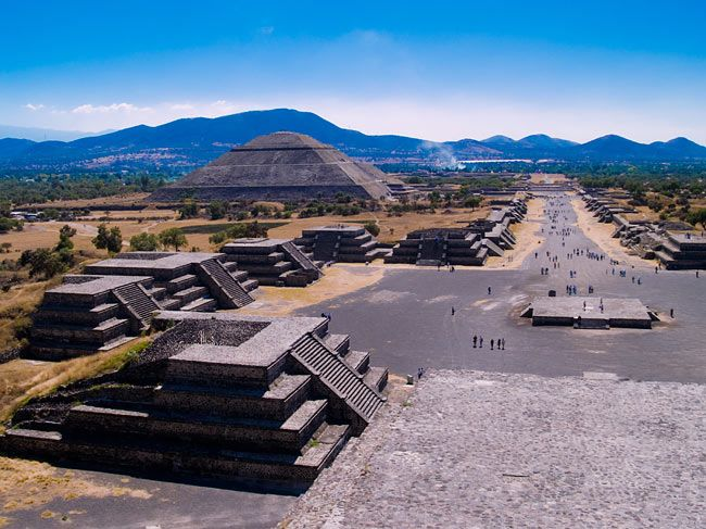 """Teōtīhuacāhas been called as """"birthplace of the gods"""", reflecting Nahua creation myths that were said to occur in Teotihuacan. Teotihuacān is a Nahuatl (Aztec) name meaning """"place where gods were born"""""""