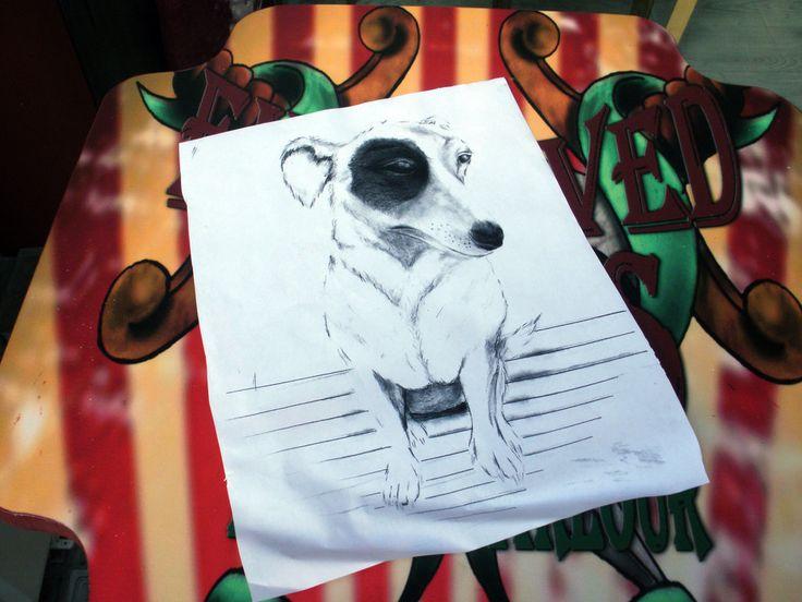 jack russell ..tattoo design by loop1974.deviantart.com on @deviantART  #dog #jack russell #Zografou #engravedcircus