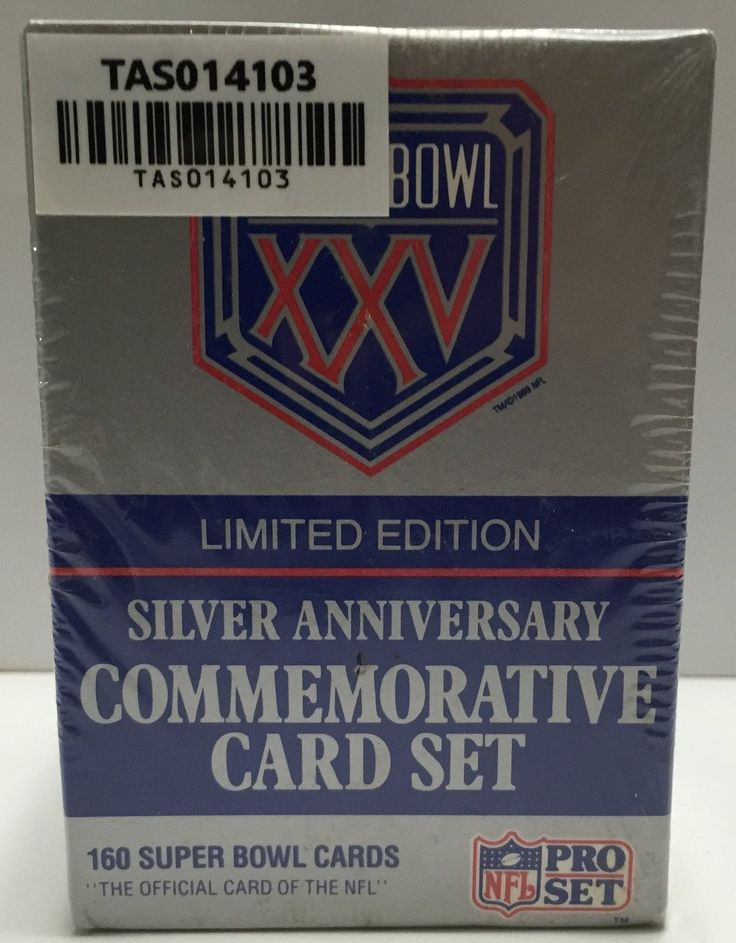 (TAS014103) - NFL Superbowl XXV Silver Anniversary Commemorative Card Set