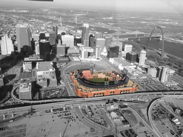 Home of the St. Louis Cardinals, Busch Stadium.