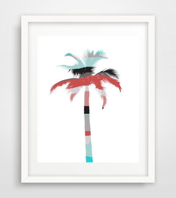 Palm Tree Printable Art Abstract Palm Tree Palm by honeytreeprints