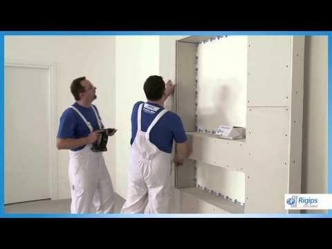 Полный монтаж ниши из гипсокартона на стене (часть 1) - Секреты монтажа! - YouTube