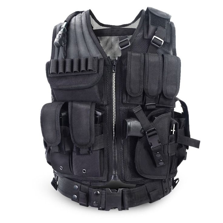 47.99$  Know more - http://aiuph.worlditems.win/all/product.php?id=32707328150 - 2016 Police Tactical Vest Outdoor Camouflage Military Sports Wear Hunting Vest Army Swat Molle Vest Black