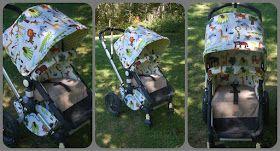 Maine Baby Treats - Custom Bugaboo Stroller Covers: Wild Animals - Frog Set