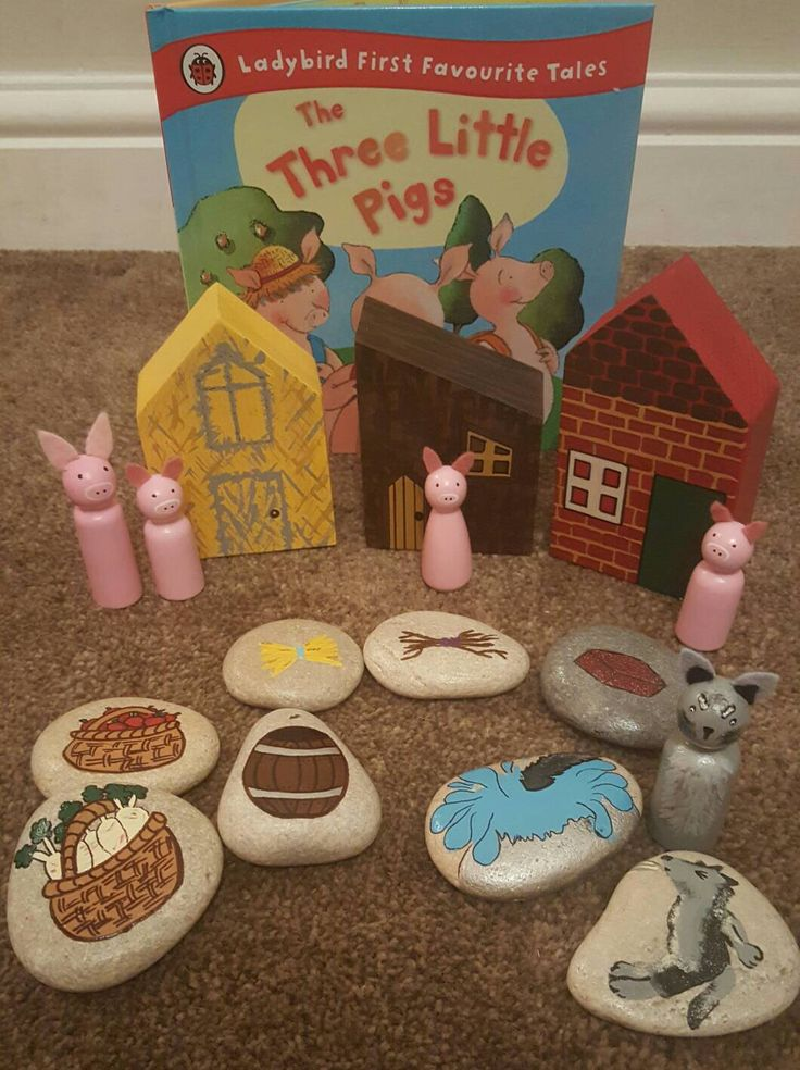The Three Little Pigs Story bundle, peg dolls, story stones, wooden building and story. by ThroughPlayWeLearn on Etsy https://www.etsy.com/uk/listing/470755506/the-three-little-pigs-story-bundle-peg