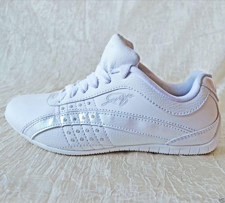 FUBU Women's White Sneakers with Rhinestones Size 6.5 - EUC! #fubu #FashionSneakers