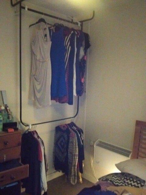 mulig clothes rack upside down with ikea brackets ikea hack