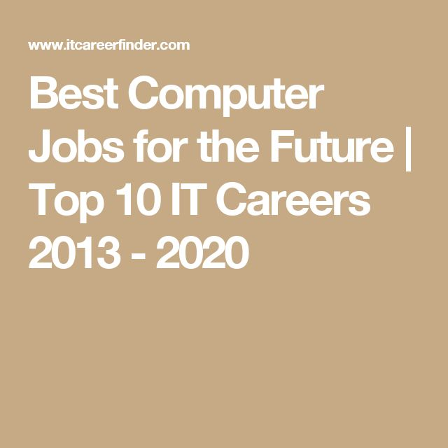 Best Computer Jobs for the Future | Top 10 IT Careers 2013 - 2020