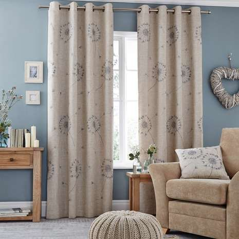 Crafted from a linen blend, these fully lined curtains are equipped with an eyelet header and are available in a selection of widths and drop lengths....