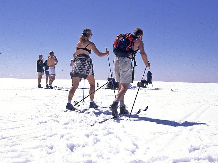 Cross country in summertime on the Fogefonna glacier