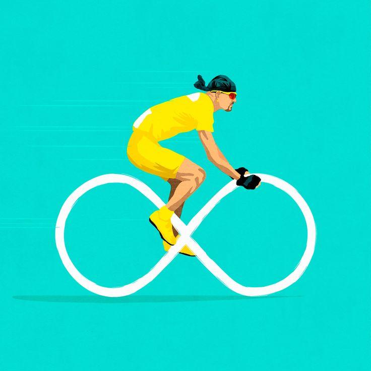 Infinite Pantani ©Benedetto Cristofani, all right reserved #Pantani #infinite #cycling #bike #poster #posterart #illustration #editorial #editorialillustration #conceptual #conceptualillustration #graphic #graphicdesign