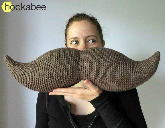 Harry the Moustache amigurumi crochet pattern by @hookabee crochet (www.hookabee.com) #crochet #amigurumi #moustache #mustache #pattern