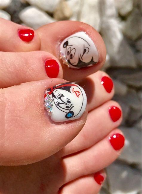 Disney Pedicure - Nail Art Gallery