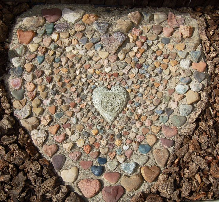 My heart rock garden