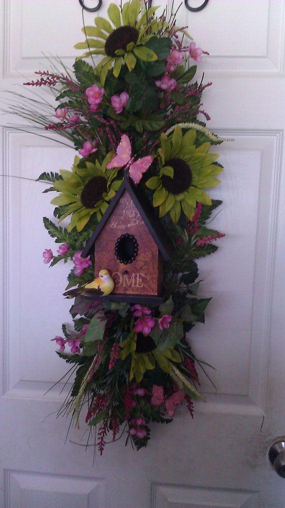 **Bird House Floral Door/Wall Swag