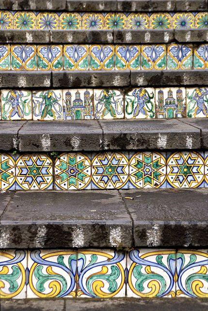 Caltagirone, Sicily, Italy - Staircase of Santa Maria del Monte