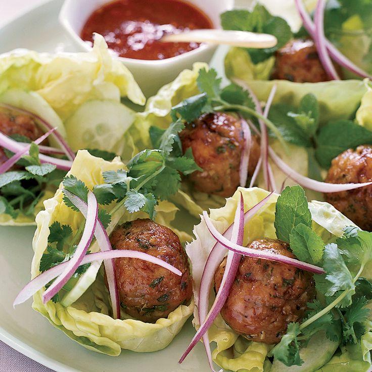 Joyce's Vietnamese Chicken Meatballs in Lettuce Wraps | Food & Wine