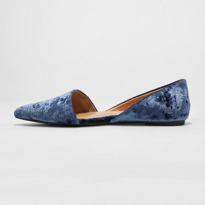 8a19ae0e8573 Women s Poppy d Orsay Pointed Toe Ballet Flats - A New Day Blue 9.5 ...