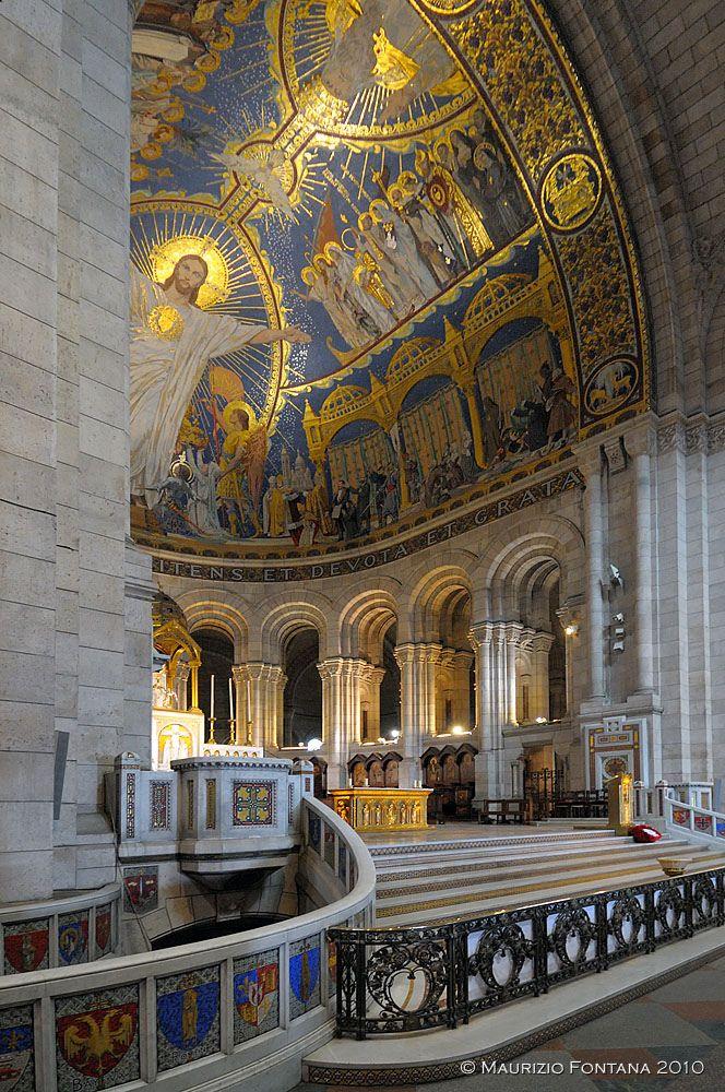 Inside Sacre Coeur, Montmartre, Paris, France