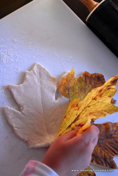 Salt dough...leaf ornaments would also be cute!