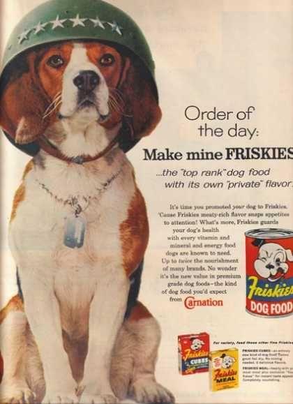 Make mine Friskies