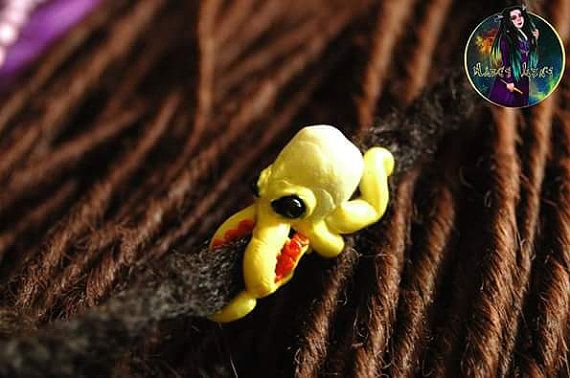 Perles pour dreads « Pieuvre ». Perles pour les dreadlocks.