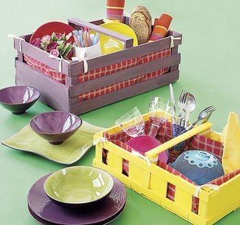 Una cesta de picnic