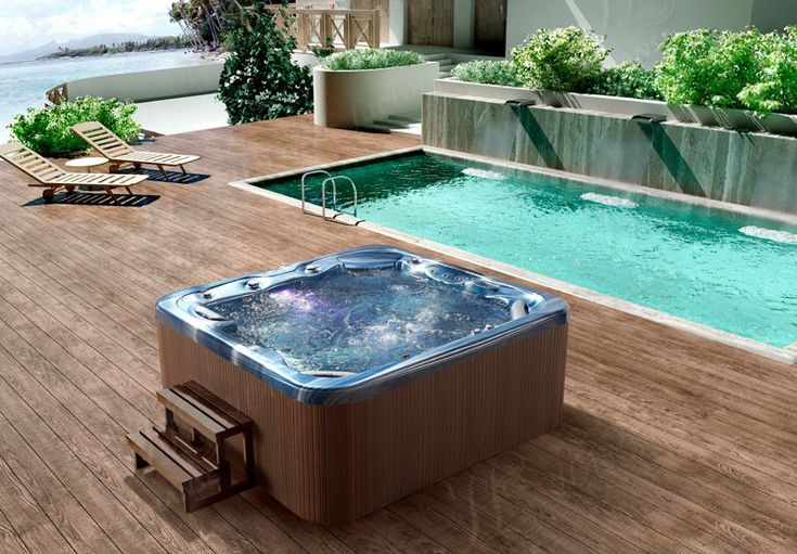 Hs-593y Six Person Hot Tub Sexy Family Spa Tub Rectangular Above ...